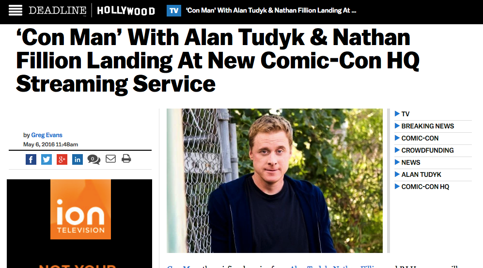 Deadline - 'Con Man' With Alan Tudyk & Nathan Fillion Landing At New Comic-Con HQ Streaming Service