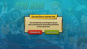 Con Man the Game cloud-save